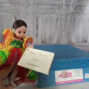 Madame Alexander Brazil 11564 doll festive 8″